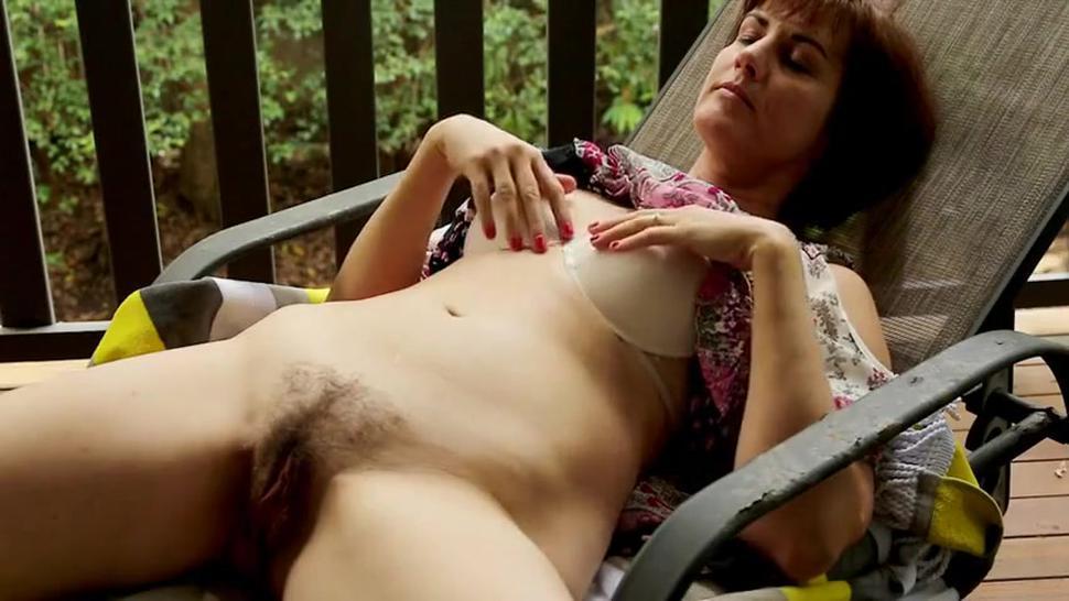 Hot Hairy Milf Enjoys Masturbating Voyeur