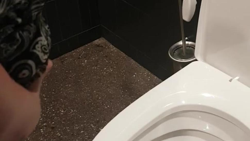 Public toilet pee,