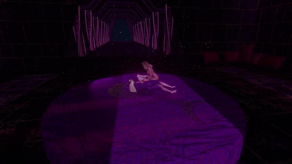 Slim futa mage pounded by voluptuous futa demon girl