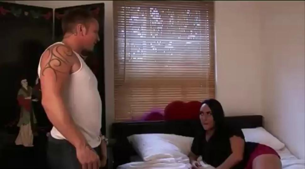 Cfnm femdom slut likes humiliating guys while on her bed