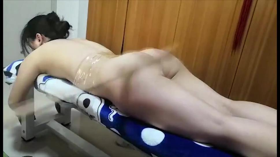 Paddling from hell for asian girl