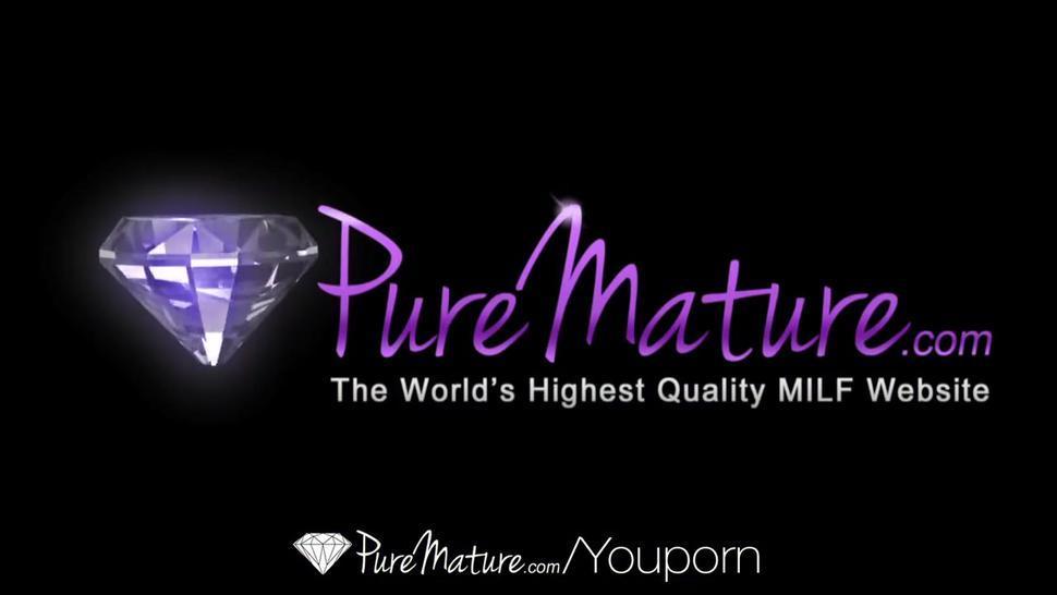 HD - PureMature Julia Ann teaches Elaina Raye to screw like a pro