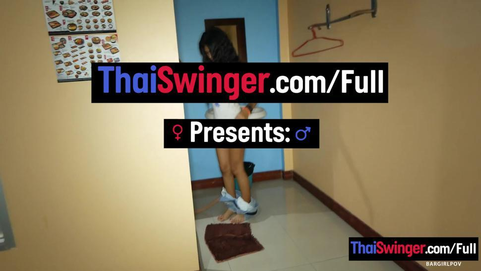 THAI SWINGER - Innocent and tiny Thai teen amateur blowjob and sex on camera