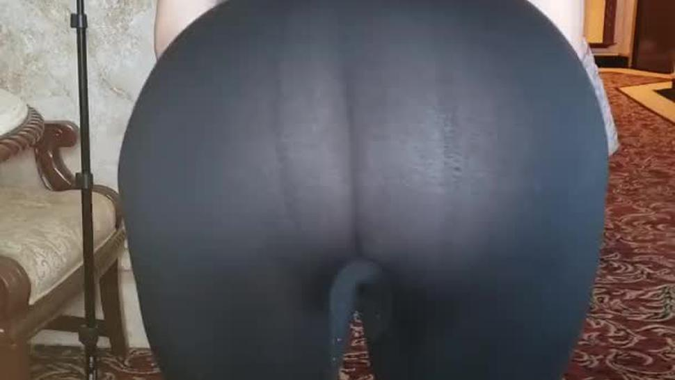 Thick latina in see through leggings fat ass in thong