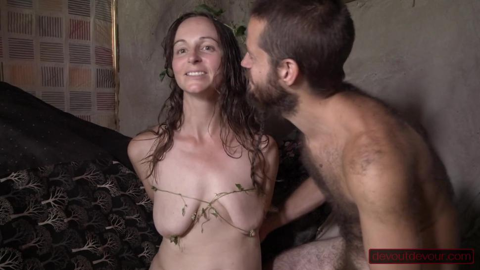 He Tortures Her Natural Milf Tits She Sucks His Dick And Squirts On His Balls Till He Cums