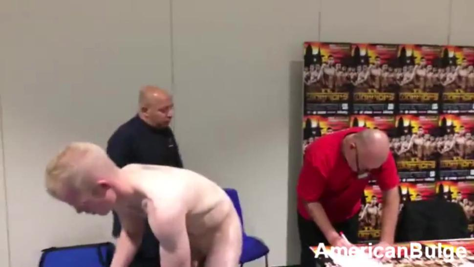 Straight Hot Boxer Exposed at Naked Weigh In