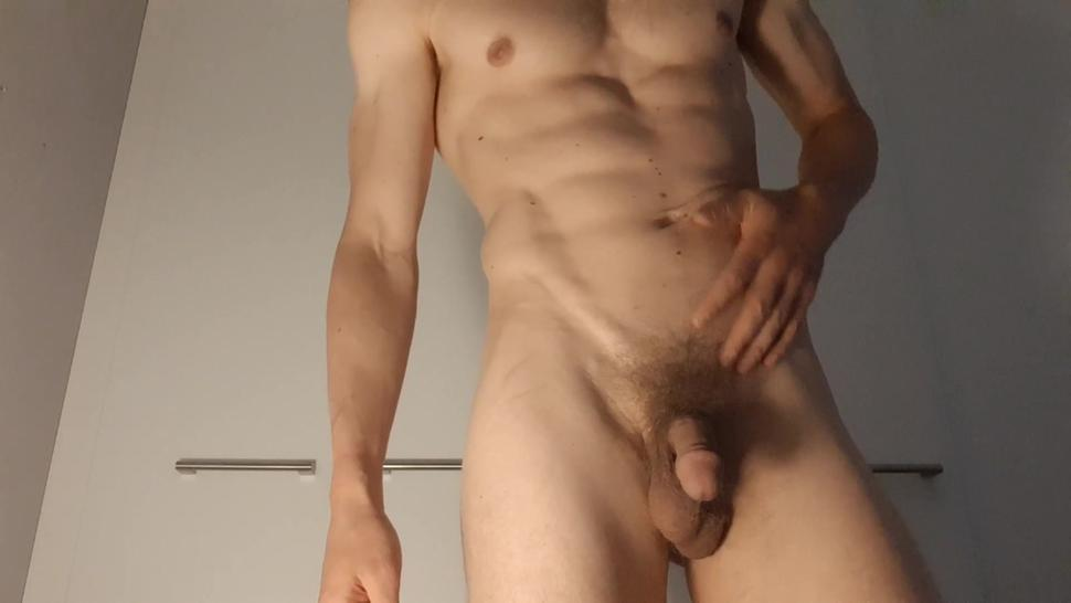 Solo Male Masturbation - Oiling up my fit body and sexy dick