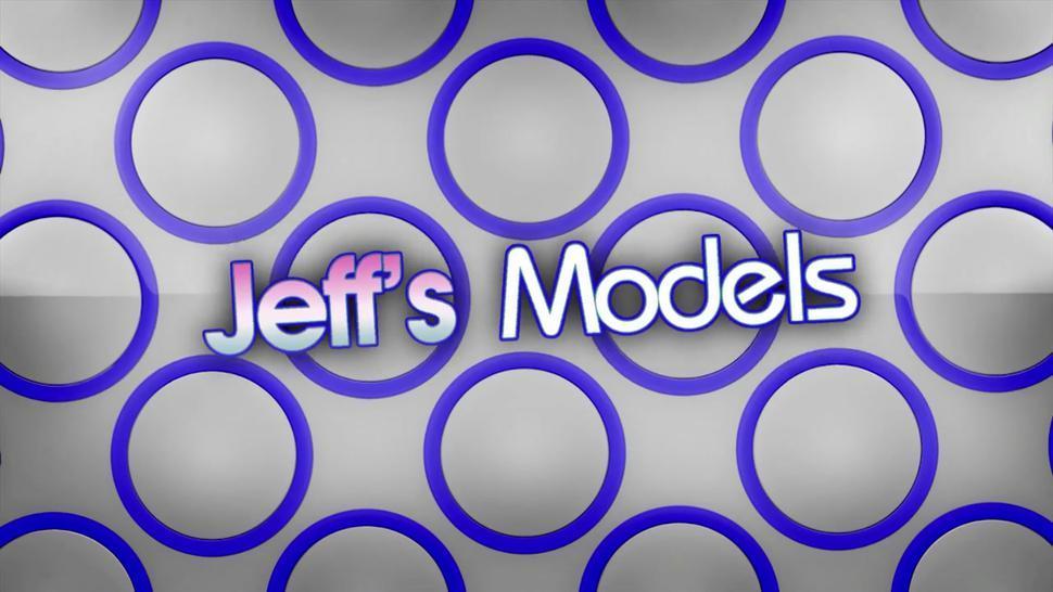 JEFFS MODELS - Fat Lesbian Bella Bendz Gets Strapon Anal by British Granny Jamie Foster