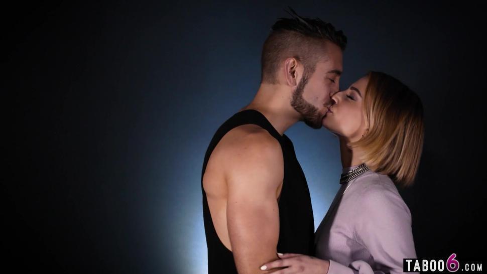 Petite Kristen Scott picked Dante Colle for passionate sex on camera