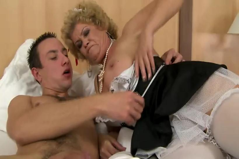 Erection/blowjob/lingerie hairy in fucks granny