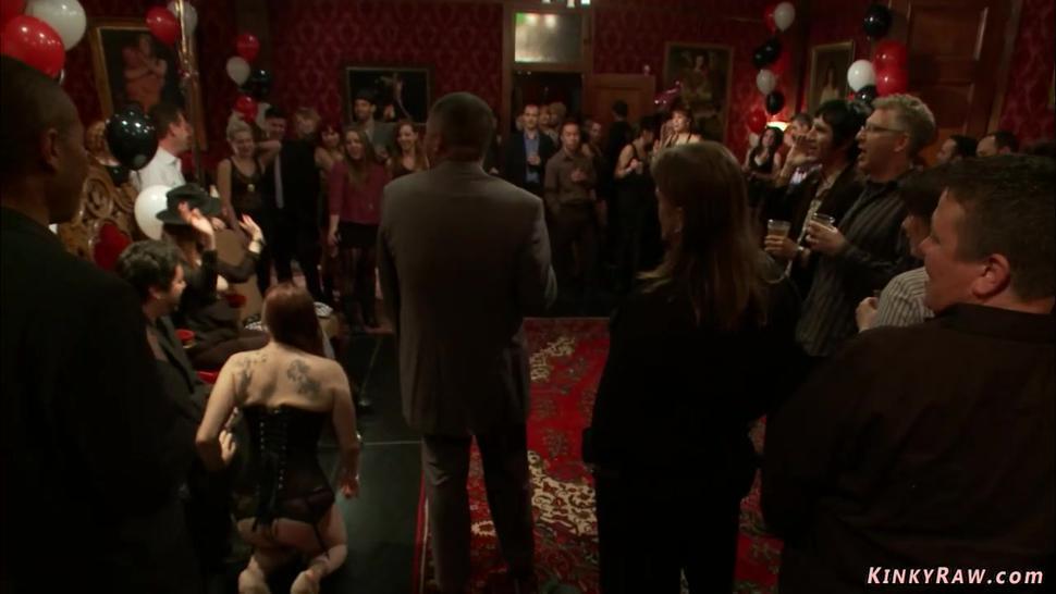 Bdsm anal sex at birthday orgy
