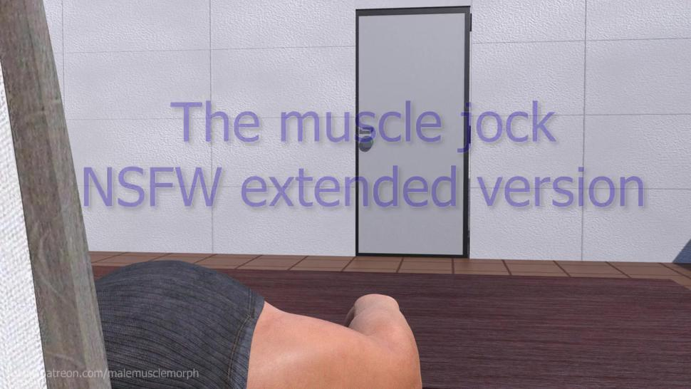 The muscle jock / Male muscle growth animation