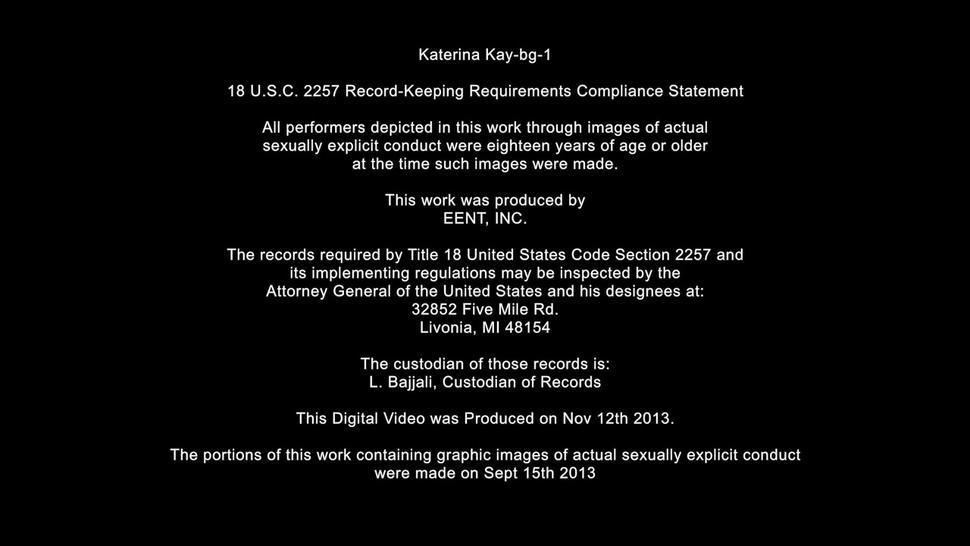 Young Blonde Katerina Banged Rough On Black Leather Sofa - Katerina Kay
