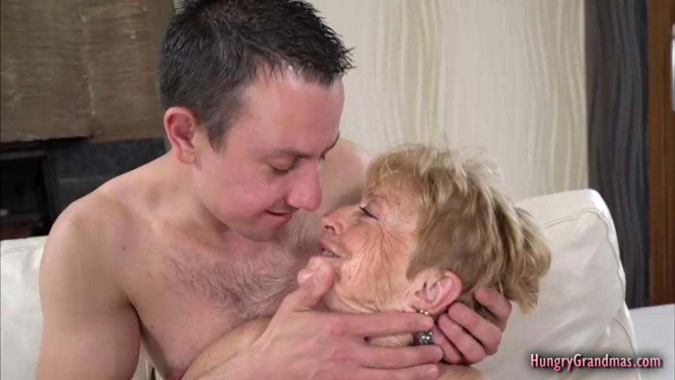 Aroused granny loves to fuck with a big hard dick