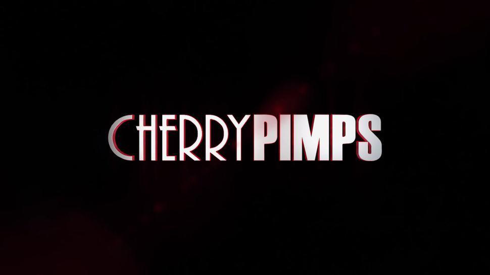 CHERRY PIMPS - Big Tits Ebony Babe Wild and Hardcore Sloppy Interracial with Donnie Rock