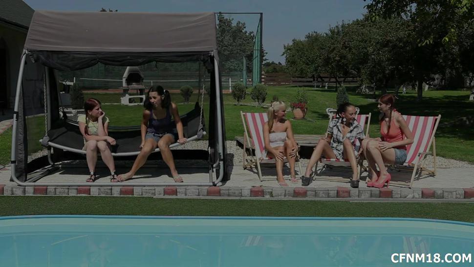 Group Sex At The Pool - Ella Storm
