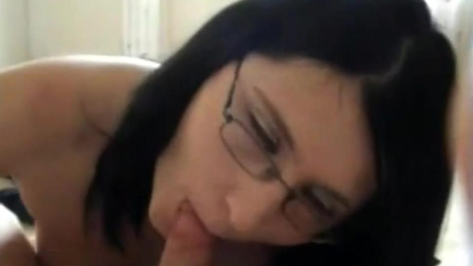 Dark Haired Girl Takes Facial With Glasses On