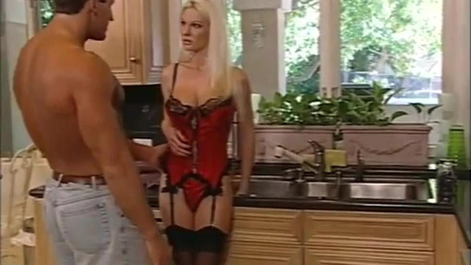 Anal on kitchen with blonde Elysin