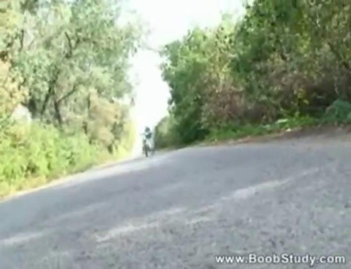 Arianna Sinn Biking Nude