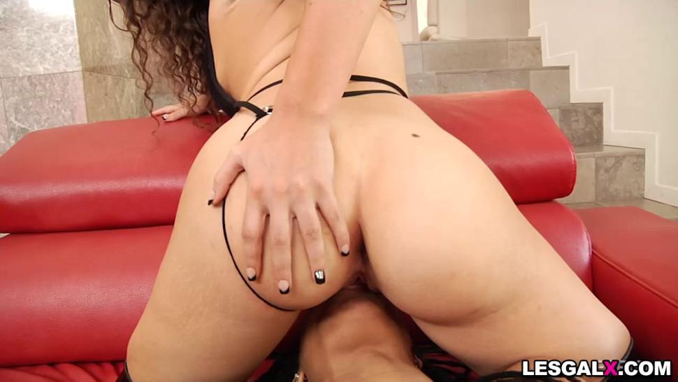 Ebony lesbian Kira Noir and Victoria Voxxx intense ANAL orgasm