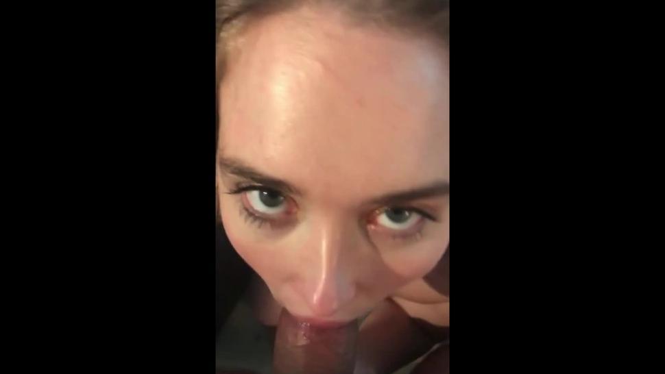 Teen Emma Kinky Redhead Blue Eyed Nympho Slut Nipple Clamps Blowjob BBC