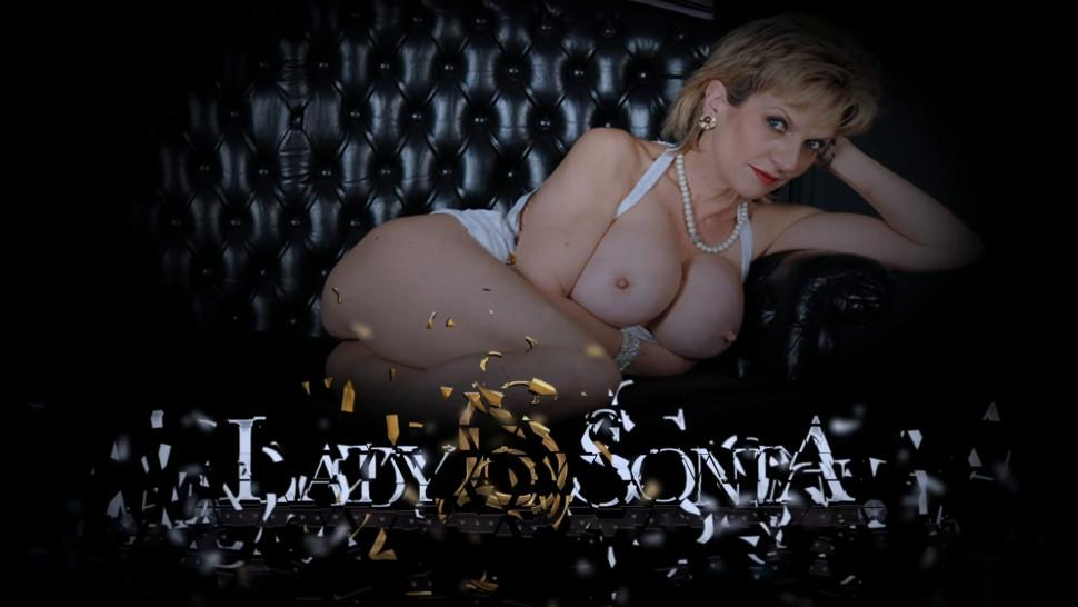 LADY SONIA - Your Aunt Sonia loves to help you jerk off your cock