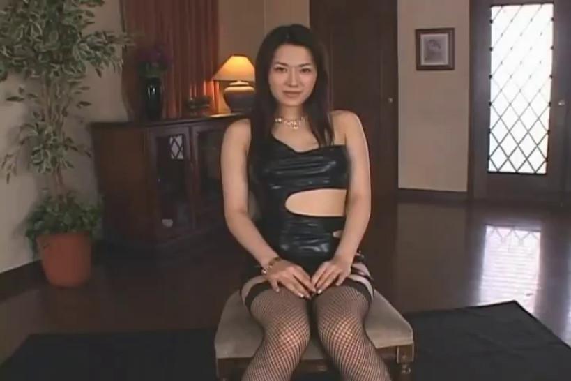 Black leather dress bukkake