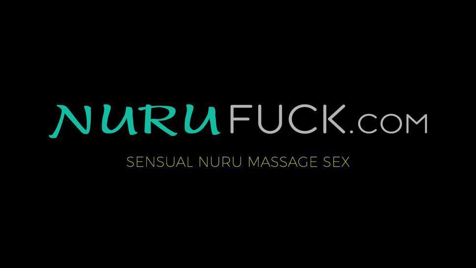 NURU FUCK - Sarah Vandella gives Nuru massage to her returning stepson