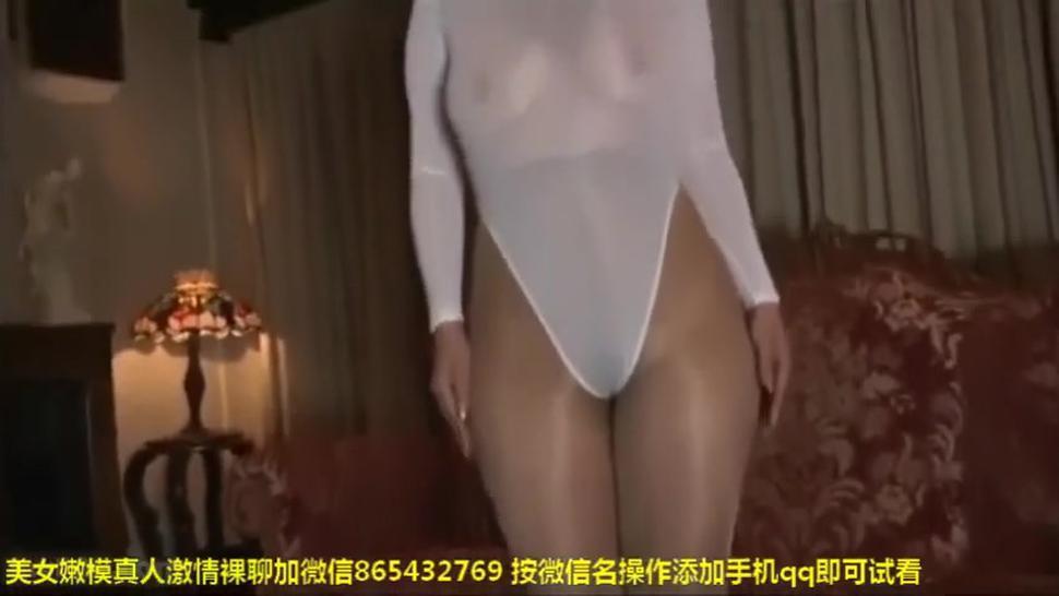 leotard pantyhose tease