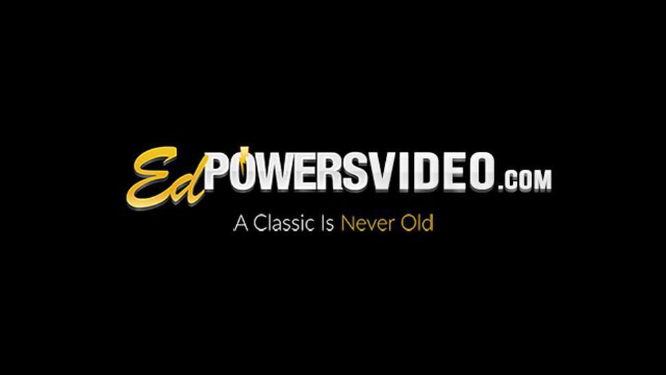 ED POWERS VIDEO - Natural tits goddess Sarah Shevon creampied after hard fuck