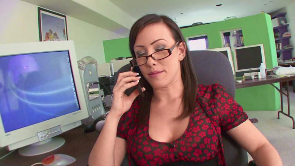 Horny Secretary Fucked by Boss at Work