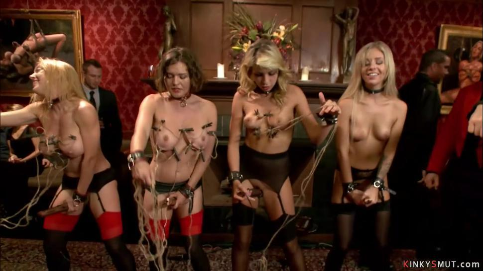 Group of slaves anal bdsm fucked