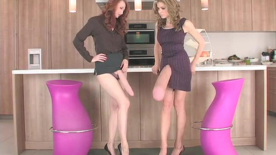 two girls with long cock