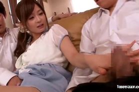 Japanese Girls entice hot school girl in bed.avi