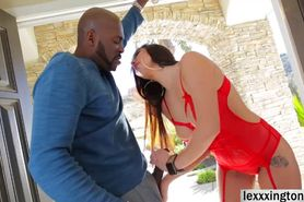 authoritative point view, deep interracial anal with young sexy blonde amusing message The