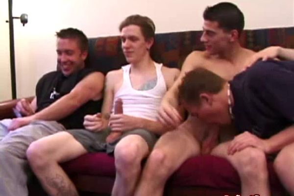 Straight punk dudes hosting homosexual orgy