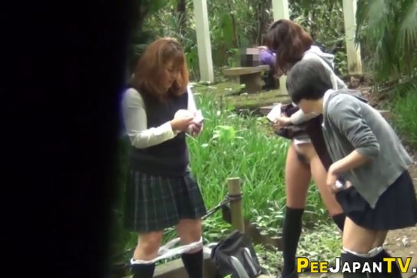 Teens caught peeing can not