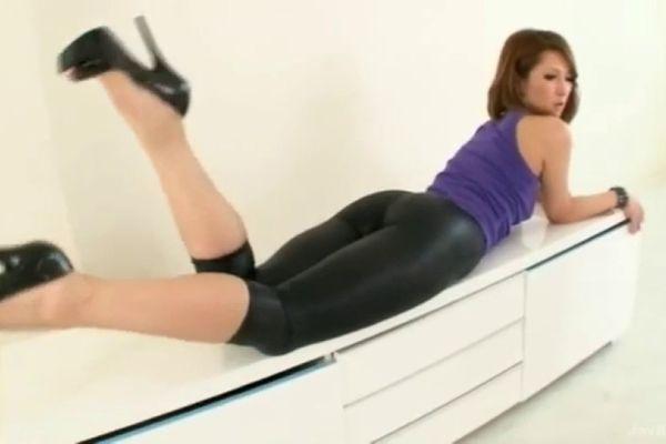 Asian in leggings porn