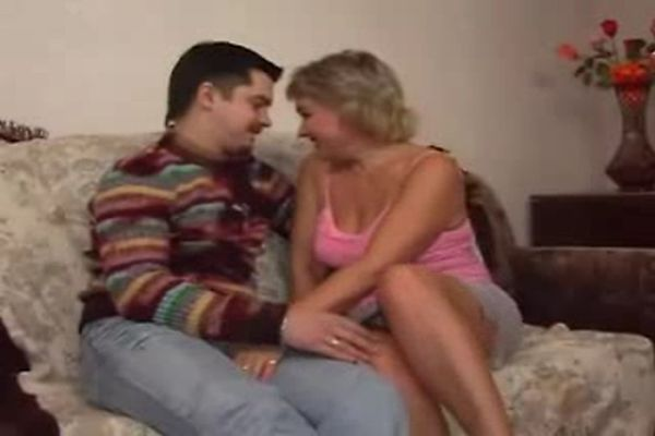 Russian mature with boy