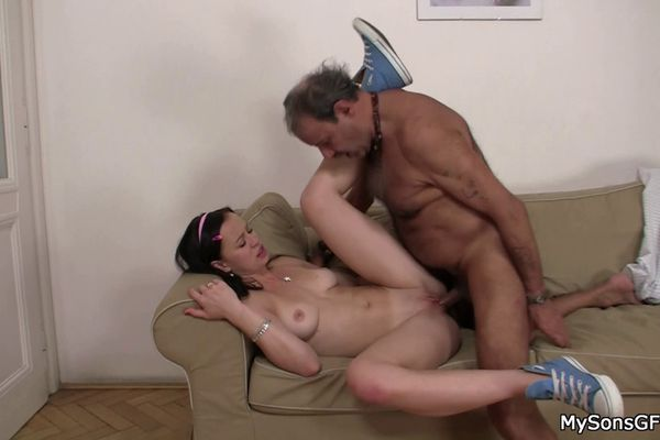 Young Woman Seduces Old Man