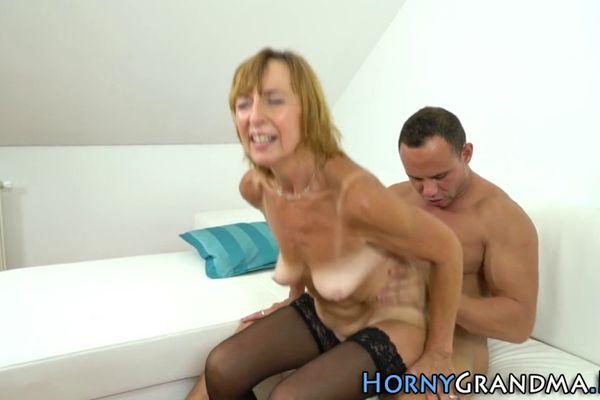 Granny riding porn