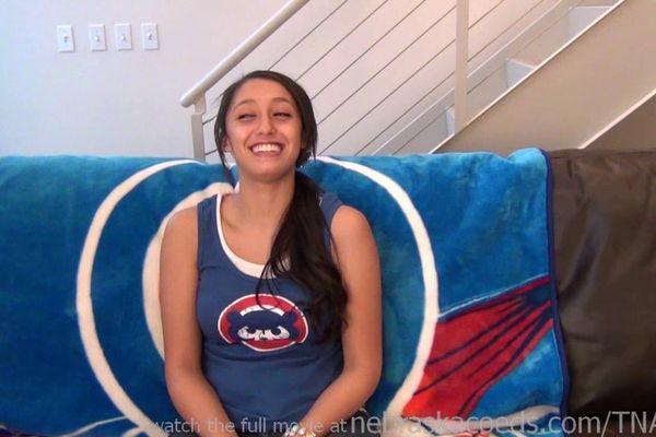 Nebraskacoeds Teen Baseball Fan First Time Nude On Camera Shes