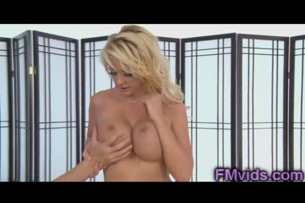 Have hit sucking huge cock busty blonde excited too with