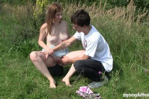busty teen outdoor