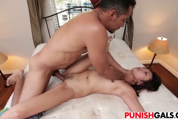 Asian girl punished come
