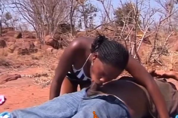 Read couples having sex outdoors