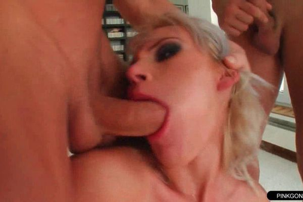 Can suggest Blonde whores deepthroat gag