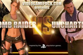 Lara Croft Fucks Uncharteds Nathan Drake