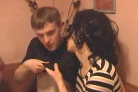 Two Russian student crossdressers have a sex party