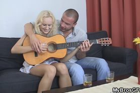 Cute blonde gf cheating